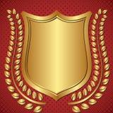 Fondo dorato Immagine Stock