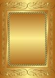 Fondo dorato Fotografia Stock