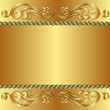 Fondo dorato Immagini Stock