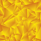 Fondo dorato astratto del triangolo Fotografia Stock