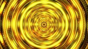 Fondo dorato dei cerchi video d archivio