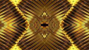 Fondo dorato del caleidoscopio illustrazione di stock