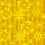 Fondo dorato del fiore Immagini Stock Libere da Diritti