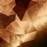 Fondo dorato del tessuto festivo con i triangoli Fotografia Stock
