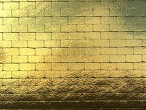 Fondo dorato della parete Fotografia Stock Libera da Diritti