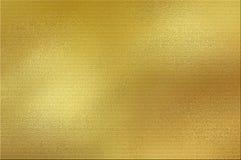 Fondo dorato della stagnola Fotografia Stock