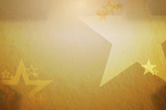 Fondo dorato delle stelle Immagine Stock
