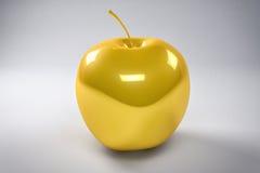Fondo dorato di Apple Fotografie Stock