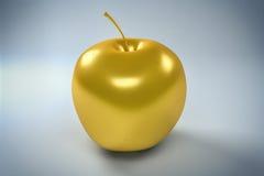 fondo dorato di Apple isolato 3D Immagine Stock Libera da Diritti