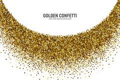 Fondo dorato di bianco dei coriandoli sparso vettore royalty illustrazione gratis