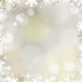 Fondo dorato di Natale astratto di festa Fotografia Stock