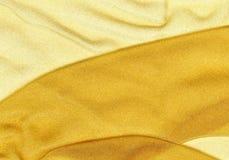Fondo dorato di struttura dell'organza Fotografia Stock