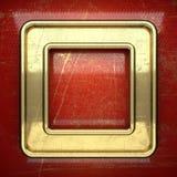 Fondo dorato dipinto nel rosso Fotografia Stock