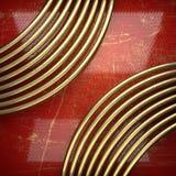 Fondo dorato dipinto nel rosso Fotografia Stock Libera da Diritti