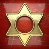 Fondo dorato dipinto nel rosso Fotografie Stock Libere da Diritti