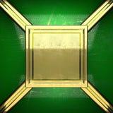 Fondo dorato dipinto nel verde Immagini Stock Libere da Diritti
