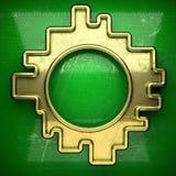 Fondo dorato dipinto nel verde Immagine Stock
