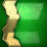 Fondo dorato dipinto nel verde Immagine Stock Libera da Diritti