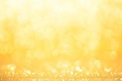Fondo dorato e giallo del cerchio Fotografia Stock Libera da Diritti