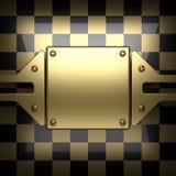 Fondo dorato e nero lucidato Fotografia Stock Libera da Diritti