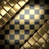 Fondo dorato e nero lucidato Fotografia Stock
