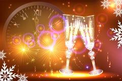 Fondo dorato luminoso per la cartolina d'auguri del ` s del nuovo anno Immagine Stock Libera da Diritti
