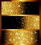 Fondo dorato realistico luminoso per il nuovo anno, struttura della stagnola di oro Un modello fresco eccellente per progettazion Fotografia Stock Libera da Diritti