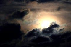 Fondo dramático del cielo fotografía de archivo