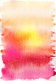Fondo drenado mano abstracta de la acuarela Imágenes de archivo libres de regalías