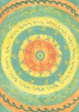 Fondo drenado mano abstracta de la pintura. ilustración del vector