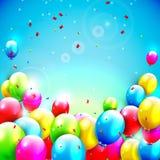 Fondo dulce del cumpleaños con el copia-espacio Fotografía de archivo