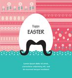 Fondo e cartolina d'auguri con l'uovo di Pasqua dei pantaloni a vita bassa Immagine Stock