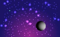 Fondo e paleta cosmici lilla fantastici, vettore Illustrazione di Stock