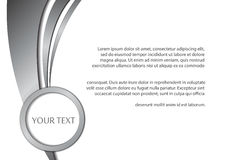 Fondo e spazio astratti del metallo per testo illustrazione di stock