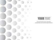 Fondo e spazio astratti di stile del cerchio per testo illustrazione di stock