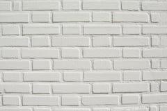 Fondo e struttura bianchi del muro di mattoni Fotografia Stock Libera da Diritti