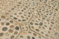 Fondo e struttura della decorazione del percorso del piede della roccia Immagini Stock Libere da Diritti