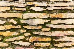 Fondo e struttura di una parete di pietra Immagini Stock Libere da Diritti