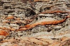 Fondo e struttura rossi della roccia Fotografie Stock