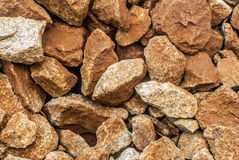 Fondo e strutture marrone-rosso della roccia Fotografie Stock Libere da Diritti
