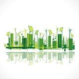 Fondo ecologico creativo di progettazione della città Immagini Stock Libere da Diritti