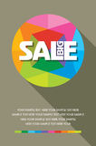 Fondo ed etichetta di acquisto di vendita per la promozione di affari illustrazione vettoriale