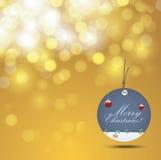 Fondo ed etichetta di Natale Fotografia Stock Libera da Diritti