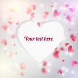 Fondo editable del vector con los corazones blured y Fotos de archivo