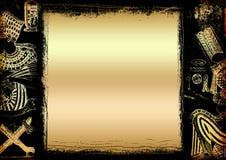 Fondo egipcio del oro ilustración del vector