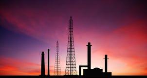 Fac eléctrico del negocio industrial de la industria de la central eléctrica de la central eléctrica Foto de archivo libre de regalías