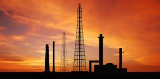 Fac eléctrico del negocio industrial de la industria de la central eléctrica de la central eléctrica Foto de archivo