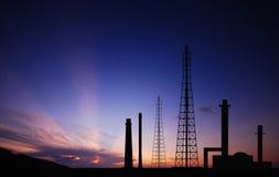 Fac eléctrico del negocio industrial de la industria de la central eléctrica de la central eléctrica Fotos de archivo