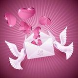 Fondo el el día de tarjeta del día de San Valentín ilustración del vector