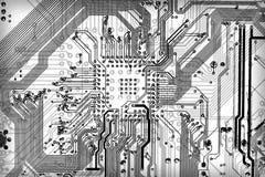 Fondo electrónico industrial de la tecnología stock de ilustración